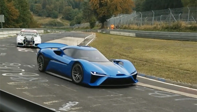 Bonkers NextEV hypercar spotted at the 'Ring