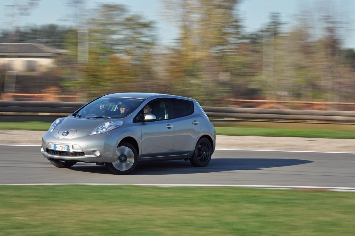 Nissan Leaf drifting