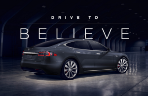 Tesla Drive to Believe campaign