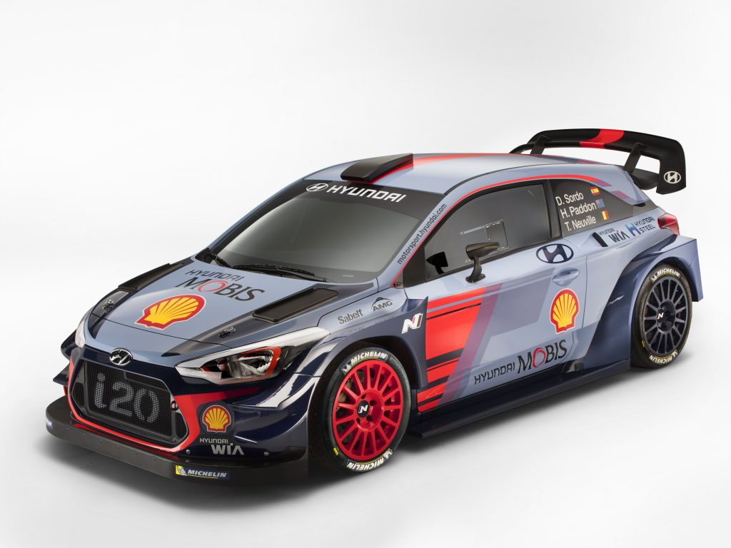 Hyundai i20 coupe WRC rally car